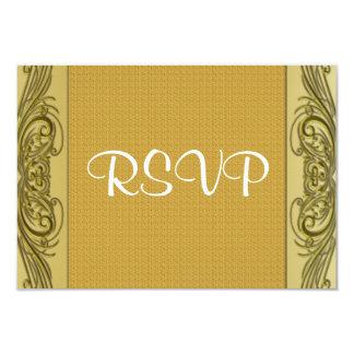 "Golden Scrolls 50th Wedding Anniversary 3.5"" X 5"" Invitation Card"
