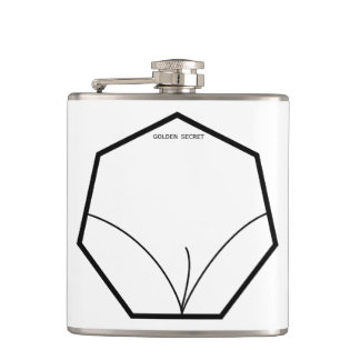 Golden secret for man hip flask