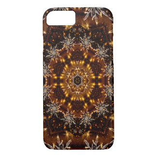 Golden Snowflakes Kaleidoscope iPhone 8/7 Case