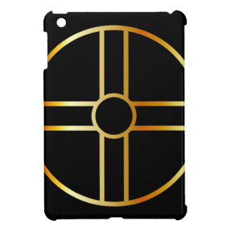 Golden southern cult solar cross symbol iPad mini cover