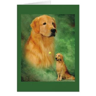 Golden Spencer Greeting Card