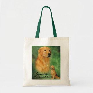 Golden Spencer Tote Bag