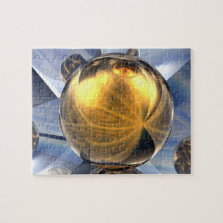 Golden Spheres Jigsaw Puzzle