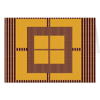 GOLDEN Squares - Windows of Opportunity Greeting Cards