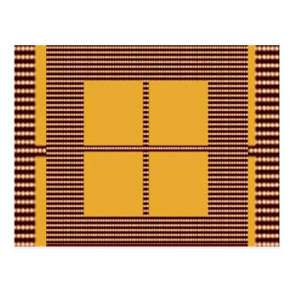 GOLDEN Squares - Windows of Opportunity Postcard