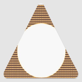 GOLDEN Squares - Windows of Opportunity Triangle Sticker