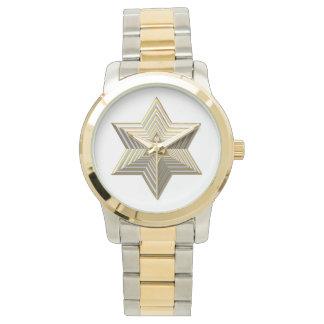 Golden Star of David Watch