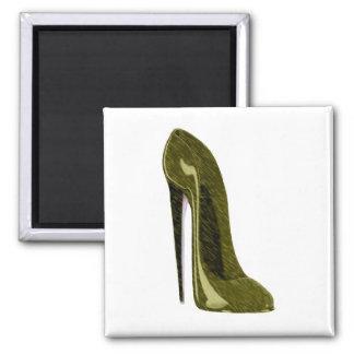 Golden Stiletto Shoe Magnet