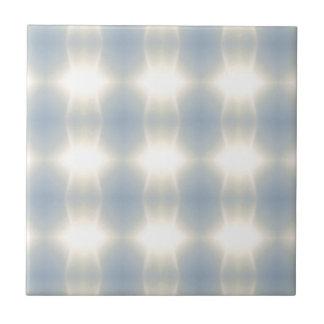 Golden Strands Of Light Abstract On Blue Backgroun Tile