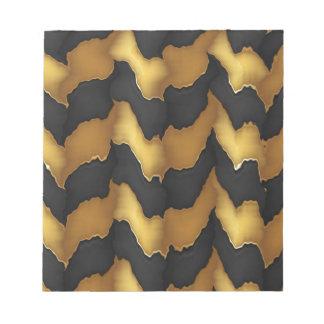 Golden Streak Goodluck Energy Wave Pattern art Notepads