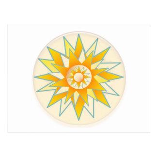 Golden Sun Shine Flower Postcard