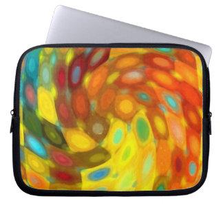 Golden Swirl Laptop Sleeve