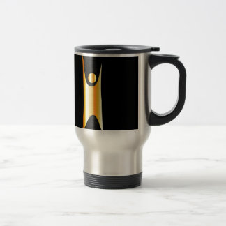 Golden symbol of Humanism Travel Mug