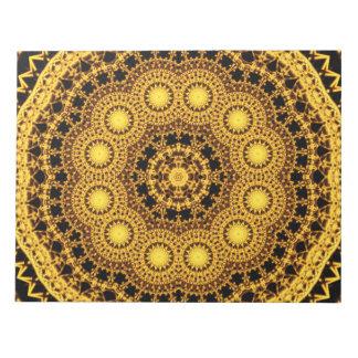 Golden Symmetry Mandala Notepad