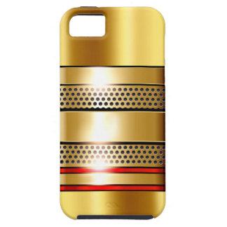 Golden Tech Mesh Chrome 4 red iPhone 5 Case