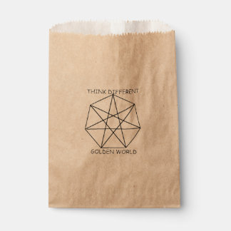 Golden think favour bags