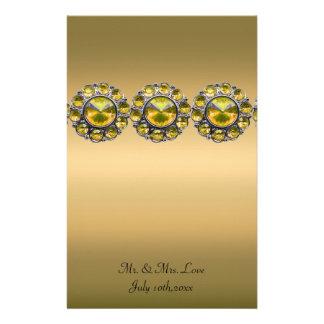 Golden Treasures Bejeweled Wedding Stationery