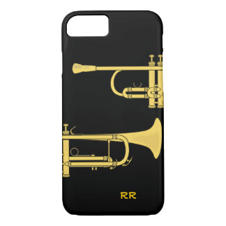 Golden Trumpet Music Theme iPhone 8/7 Case