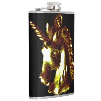 golden unicorn drinking flask