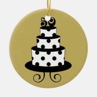 Golden Wedding 50th Anniversary Keepsake Christmas Ornament