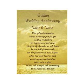 Golden Wedding Anniversary canvas