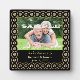 Golden Wedding Anniversary Circle Frame Template Plaque