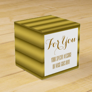 Golden wedding anniversary favour box