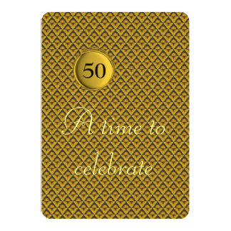 Golden Wedding Anniversary 13 Cm X 18 Cm Invitation Card