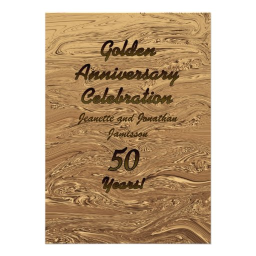 Golden Wedding  Anniversary Invitation 2Sided 50th