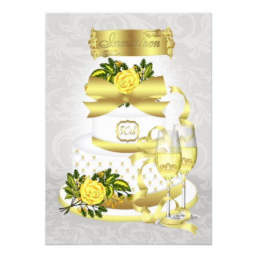 Golden Wedding Anniversary Invitation Papers