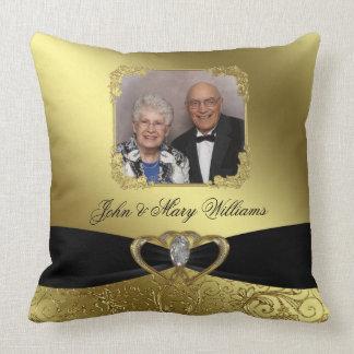 Golden Wedding Anniversary Photo Throw Pillow
