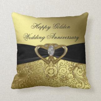 Golden Wedding Anniversary Throw Pillow
