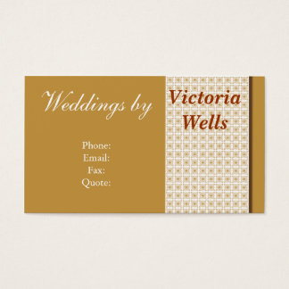 Golden Weddings and Events Business Card