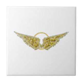 Golden wings with halo tile