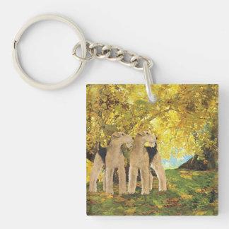 Golden Woods Key Ring