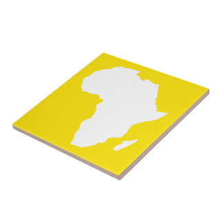 Golden Yellow Audacious Africa Small Square Tile