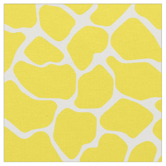 Golden Yellow Safari Giraffe Fabric