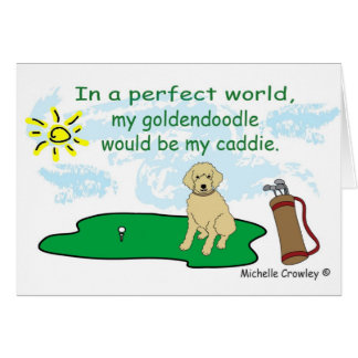 Goldendoodle Card