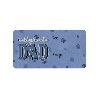 GoldenDoodle DAD Address Label