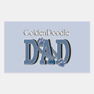 GoldenDoodle DAD Rectangular Sticker