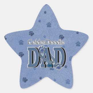 GoldenDoodle DAD Star Sticker