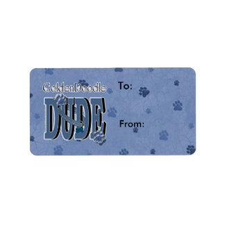 GoldenDoodle DUDE Address Label