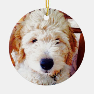 Goldendoodle Puppy Christmas Ornament