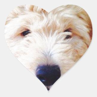 Goldendoodle Puppy Heart Sticker