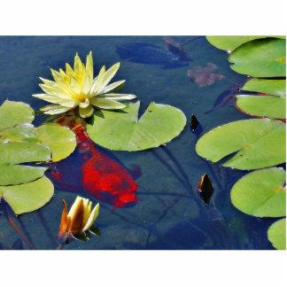 Goldfish Animal Standing Photo Sculpture