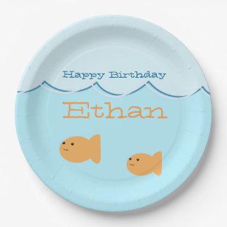 Goldfish Birthday Party Paper Plates