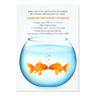 Goldfish Bowl Post Wedding Brunch Invitation