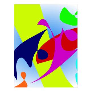 Goldfish Bowl Summer Colors Postcard