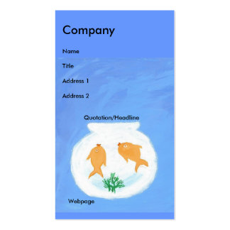 Goldfish/Bubbles Pack Of Standard Business Cards