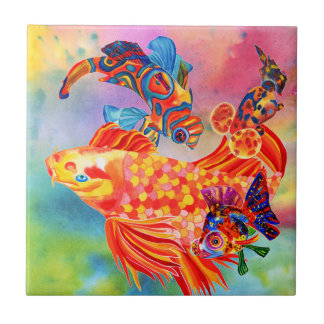 Goldfish design decorative tile